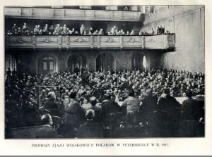 Pierwszy zjazd wojskowych Polaków Miciński w okienku